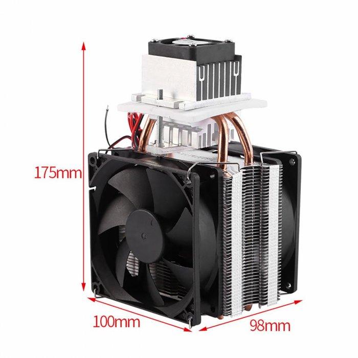 Элемент Пельтье с радиаторами и вентиляторами