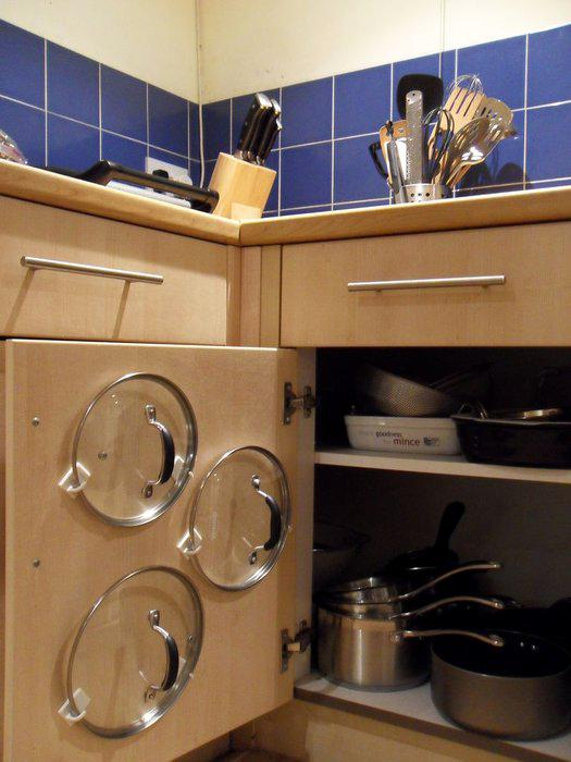 1529742390 5 - Легкая хитрость найти место для крышек посуды