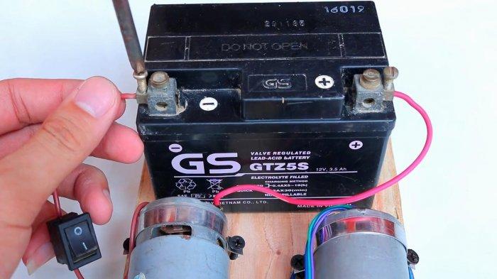 Mechanical converter 12 - 220 V