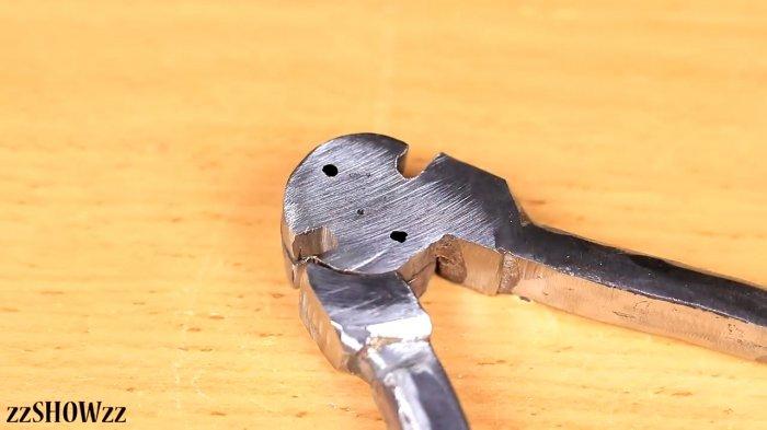Cutting pliers from broken pliers