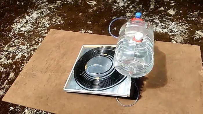 How to make a solar water heater