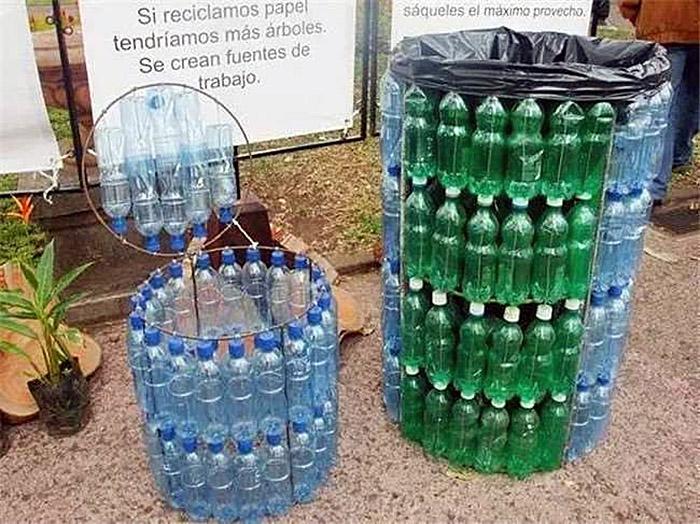 Необычное применение пластиковых бутылок на даче