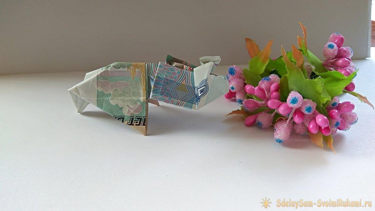 Свинка из купюры