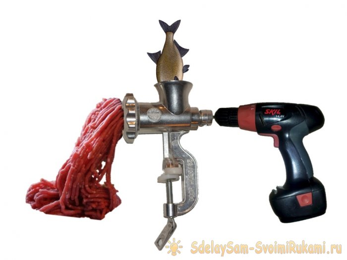 Do-it-yourself Meat Grinder in 5 minutes