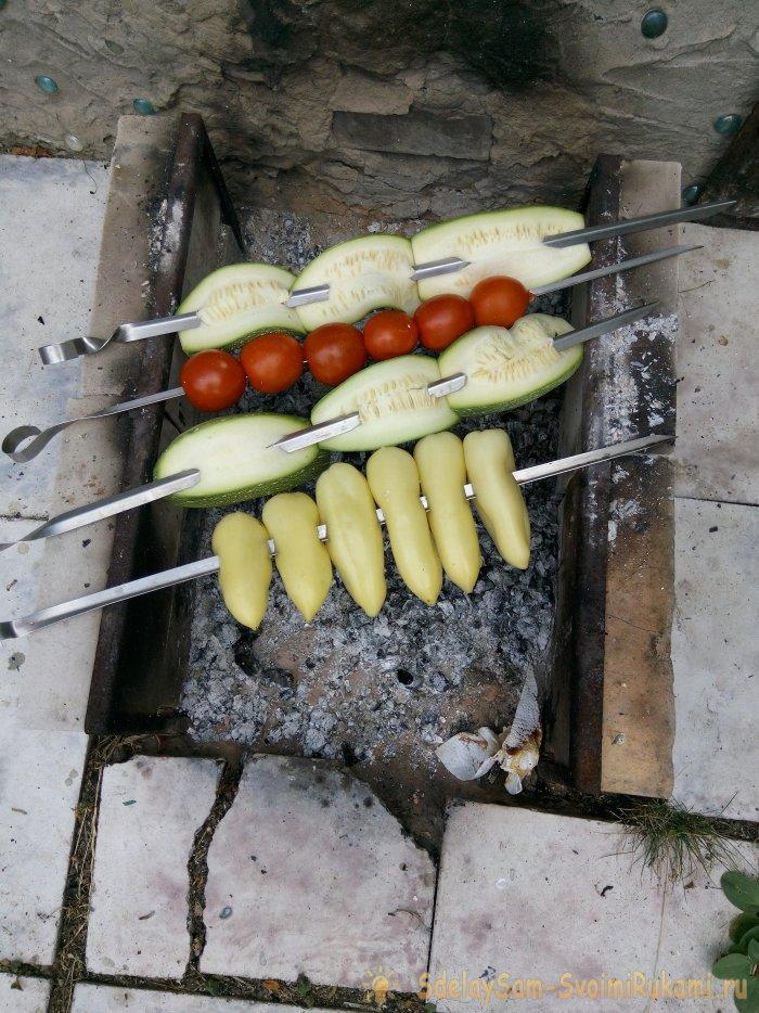 Delicate beef kebab