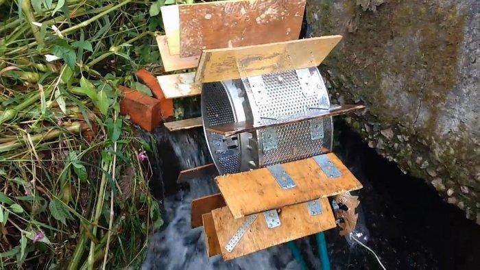 Самодельная гидроэлектростанция из старой стиральной