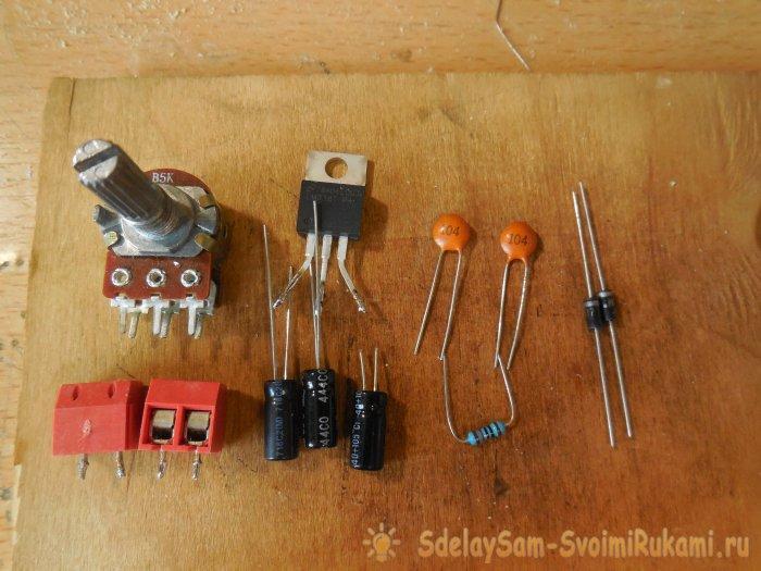 Powerful linear voltage regulator