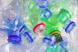 Unusual use of plastic bottles in the country