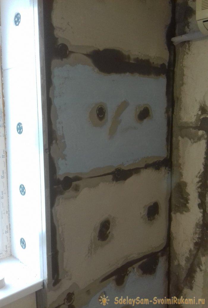 Как производится утепление стен изнутри пенополистиролом