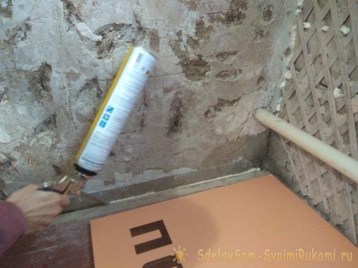 New technology of floor insulation by penokleksom