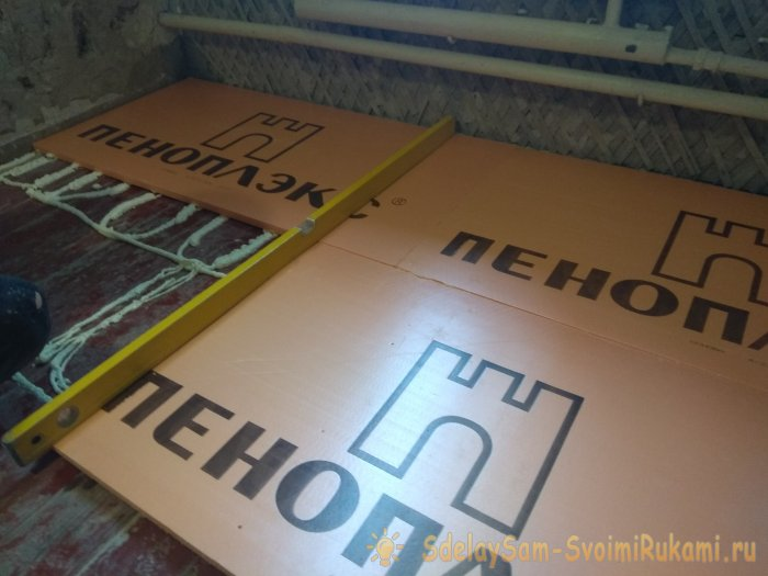 New technology of floor foam insulation