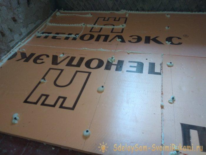New technology of flooring foam insulation