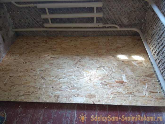 New technology of floor insulation penoplex