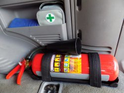 Bracket for a car fire extinguisher with your own hands