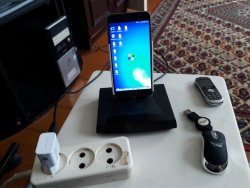 Docking station for phone from scrap materials