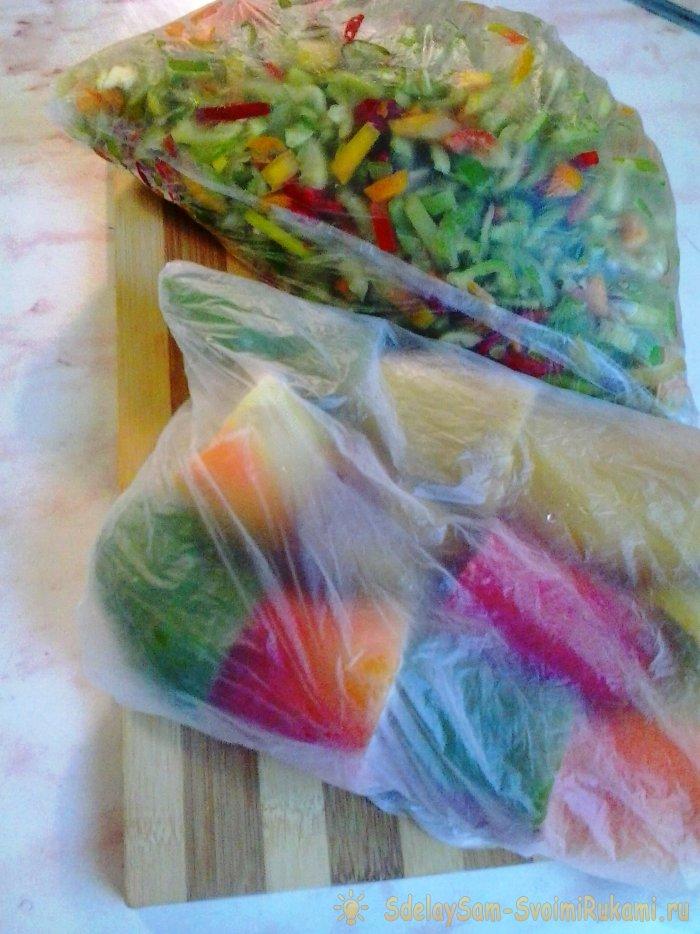 Заморозка овощей и зелени на зиму в домашних условиях