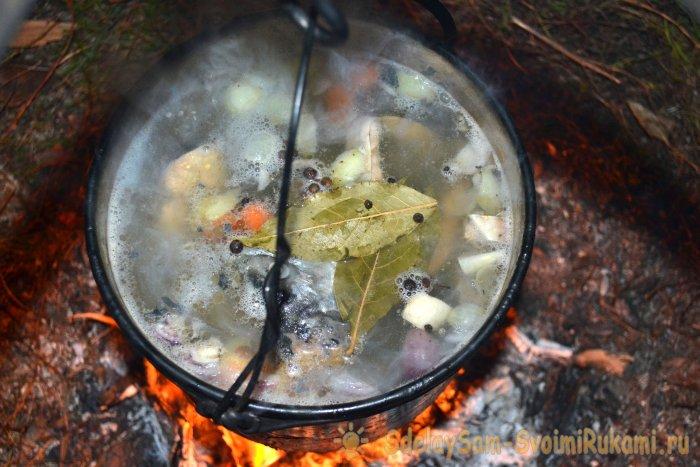 Уха из форели на костре - рецепт с фото на Повар.ру