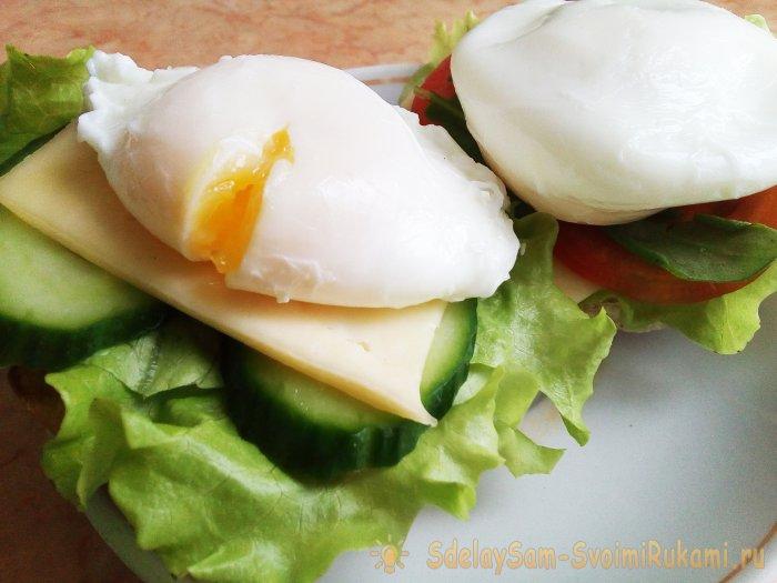 Рецепт: Яйца пашот (два способа приготовления) на