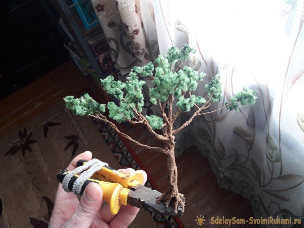 Искусственное дерево бонсаи своими руками