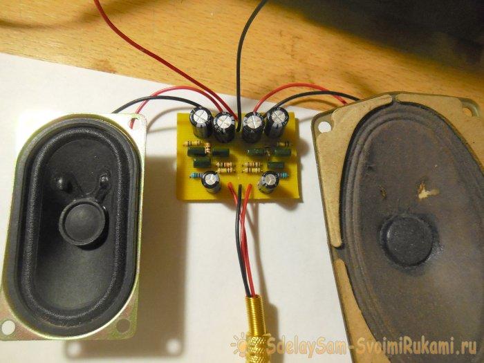Схема простого усилителя на трех транзисторах КТ315