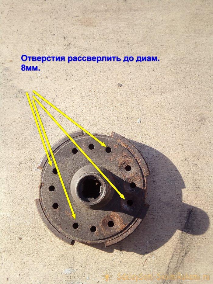 АЭРОДВИЖИТЕЛЬ ранцевого типа из бензопилы «Урал»