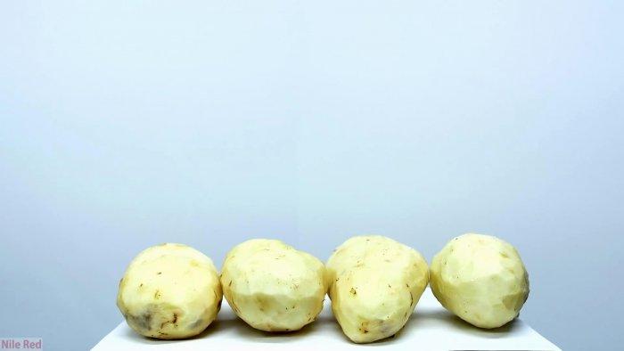 Получение крахмала из картофеля