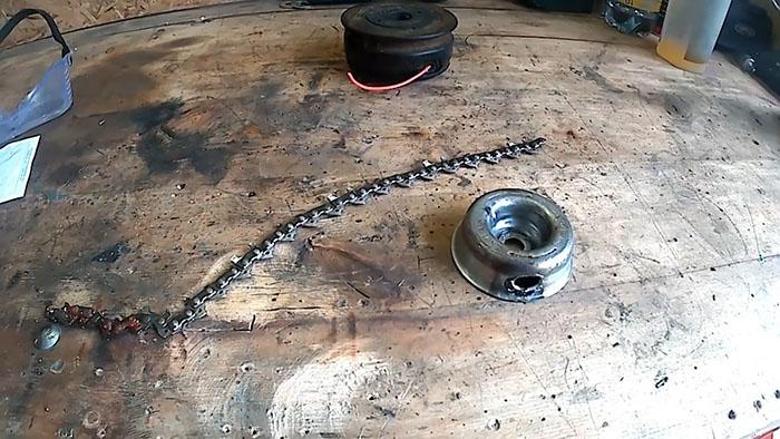 1552798156 7 - Как поставить на бензокосу цепь от бензопилы
