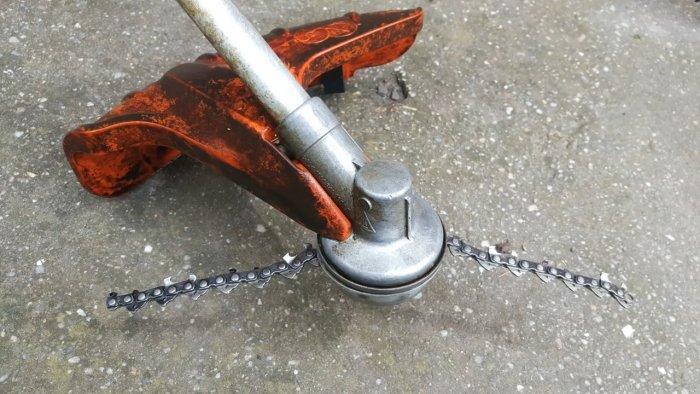 1552798173 18 - Как поставить на бензокосу цепь от бензопилы