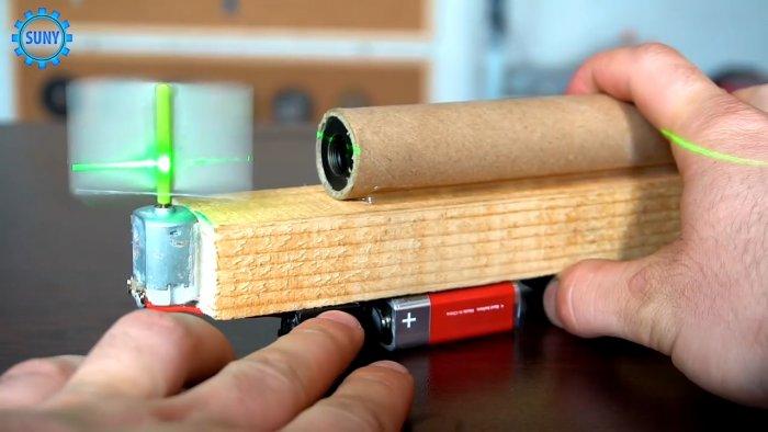 Как сделать простой лазерный уровень из указки