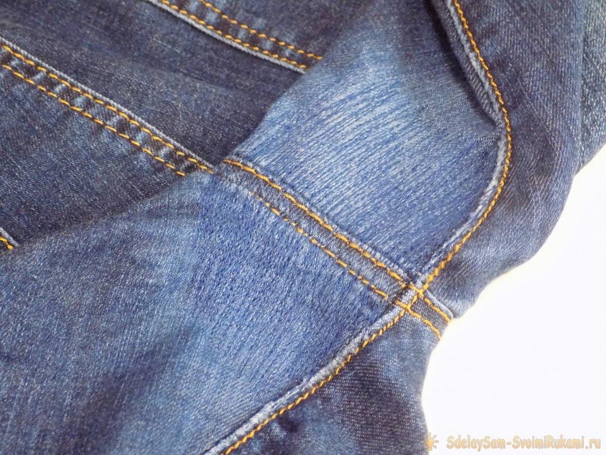 Как отремонтировать протертые джинсы