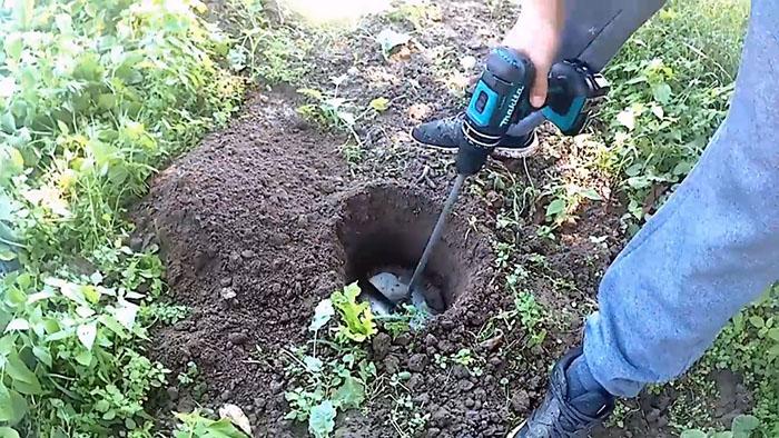 Как сделать садовый бур из пильного диска