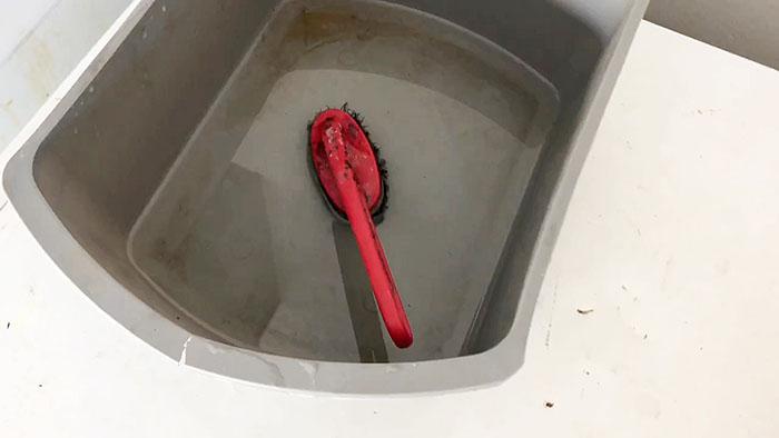 Мастер-класс: чистка кухонного фартука cодой и уксусом
