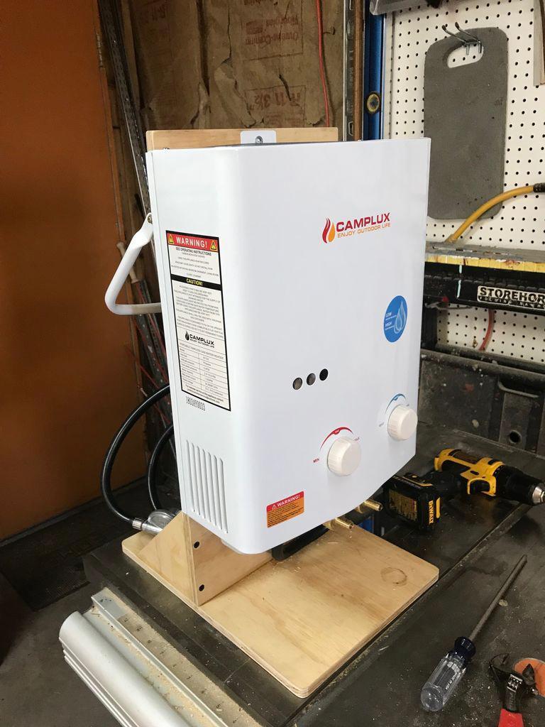 Портативный душ с газовым нагревом для кемпинга