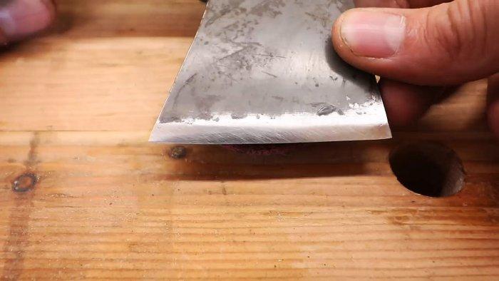 Заточка топора до уровня бритвы