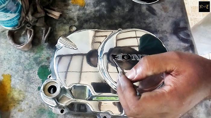 Как восстановить и отполировать крышку двигателя