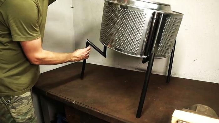 Как сделать супергриль из барабана негодной стиралки