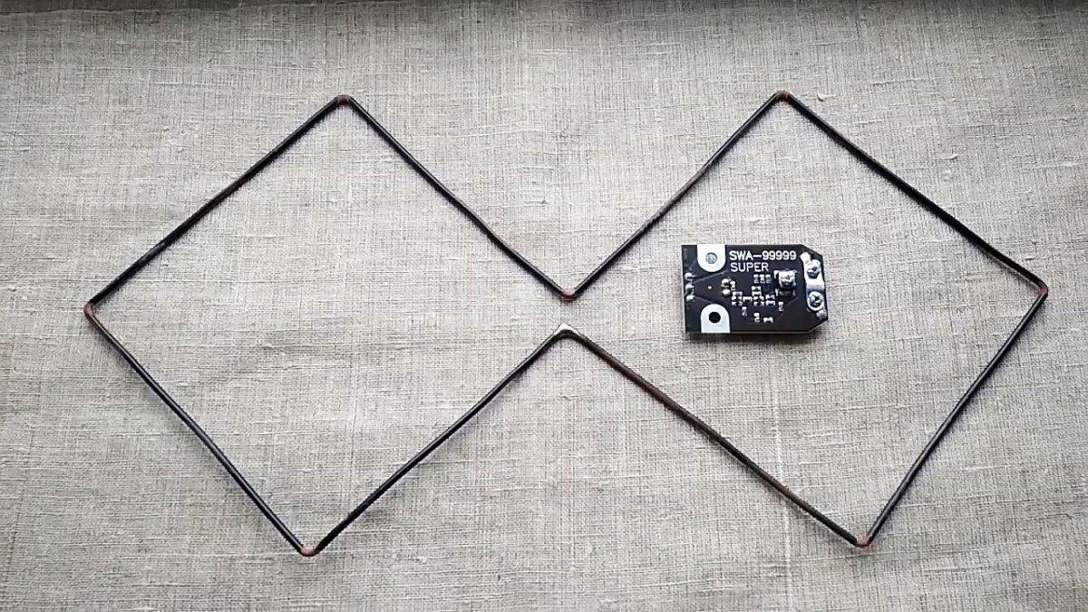 Очень простая самодельная антенна DVB-T2 с усилителем