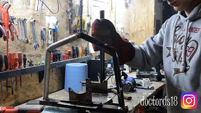 Мотодрель из триммера своими руками