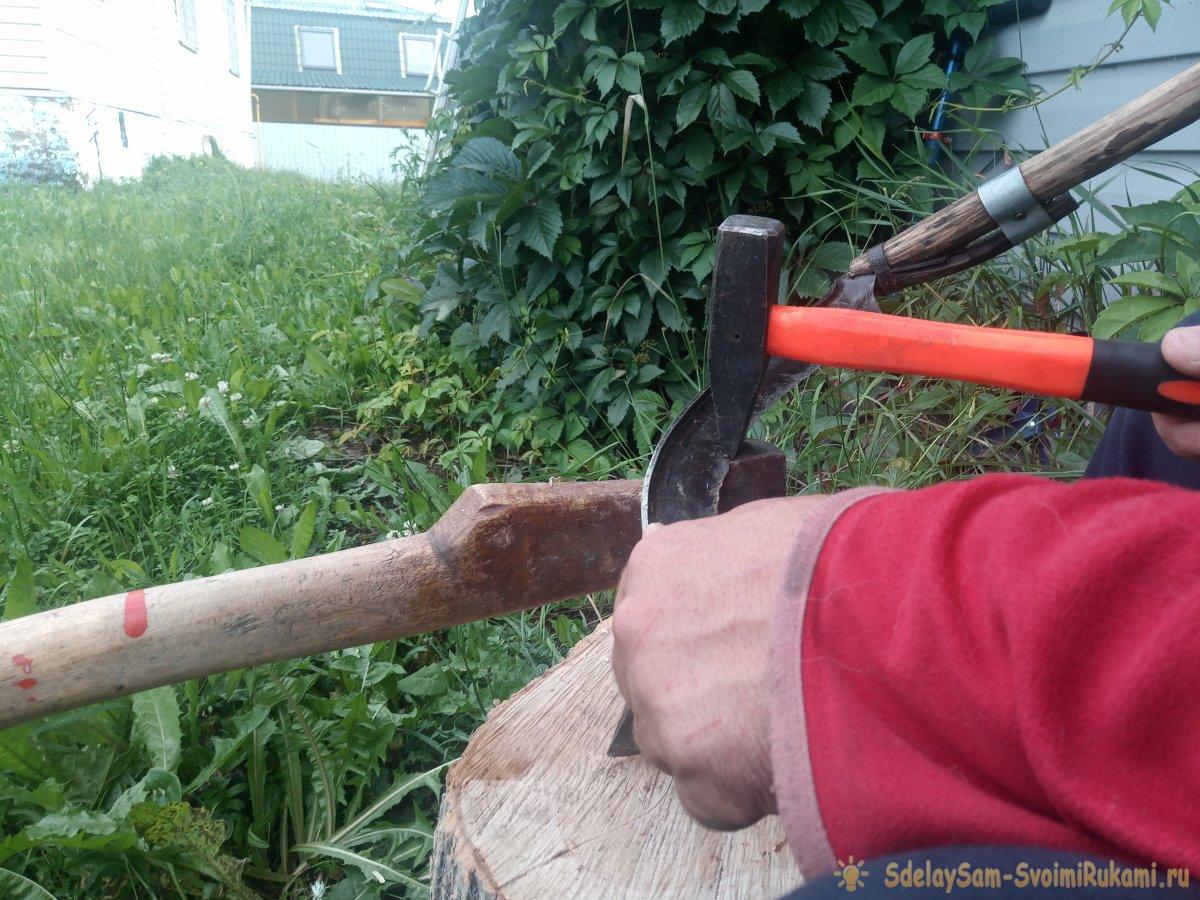 Как отбить косу используя инструменты, которые всегда есть под рукой