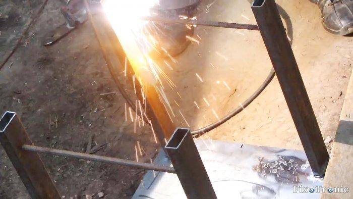 1564545199 11 - Как сделать стойку для болгарки из старой рамы велосипеда
