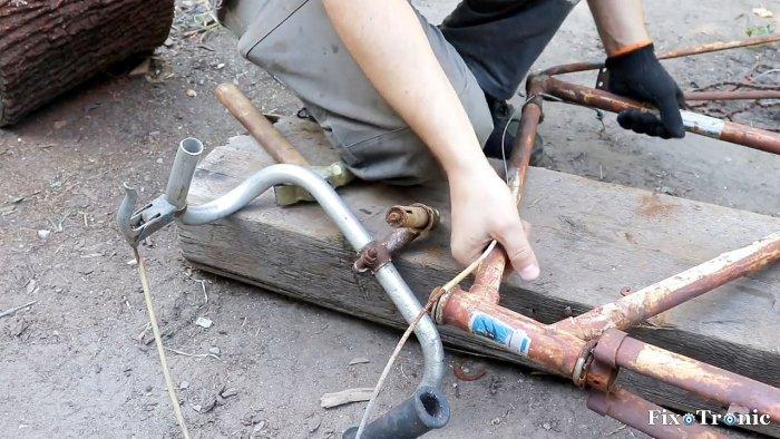 1564545231 2 - Как сделать стойку для болгарки из старой рамы велосипеда