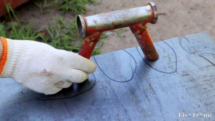 1564545253 12 - Как сделать стойку для болгарки из старой рамы велосипеда