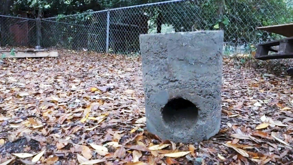 Ракетная печь из бетона - за ними не заржавеет