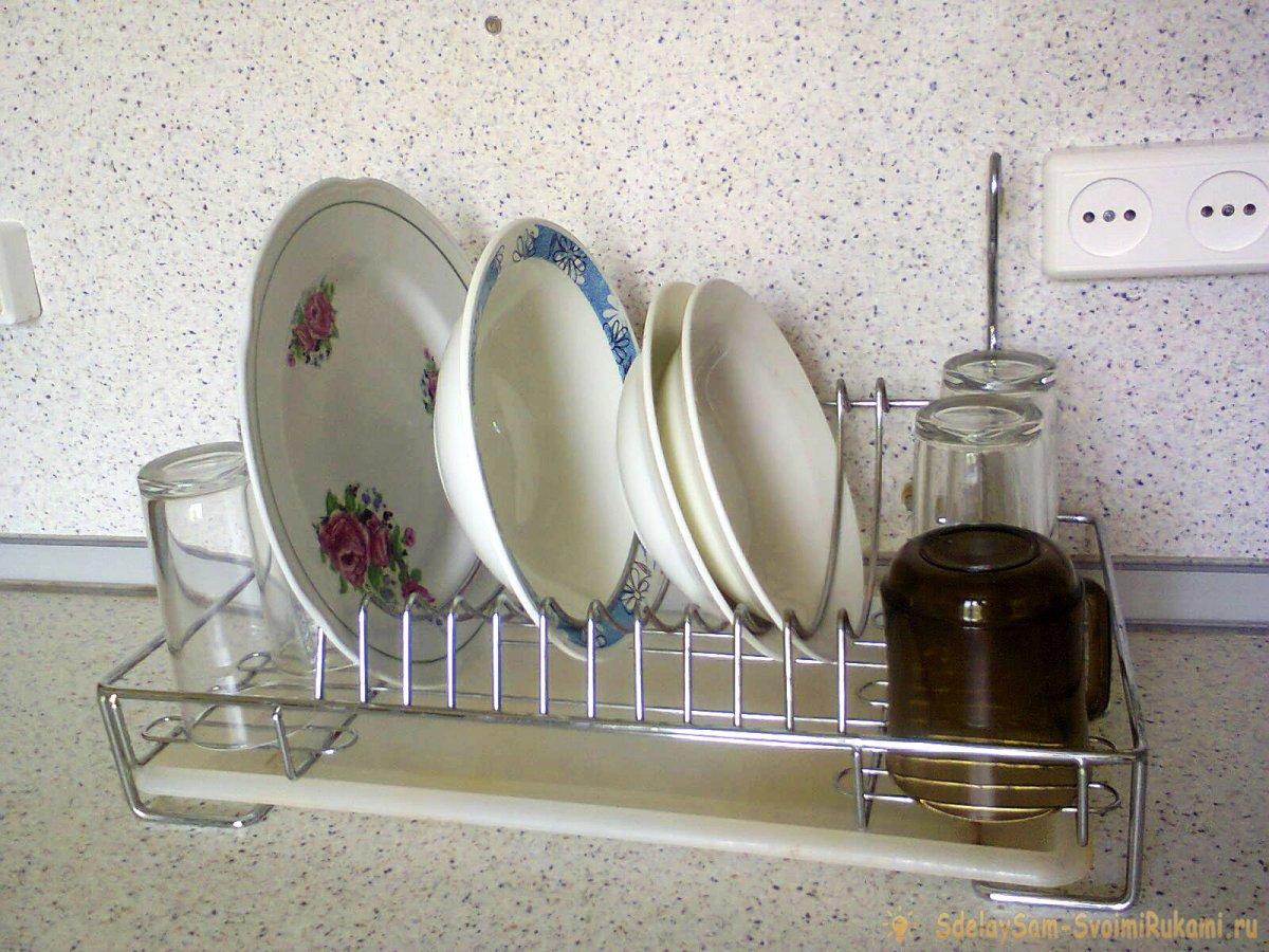 Вода, уксус и перекись водорода против ржавчины - делюсь личным опытом очистки сушилки для посуды