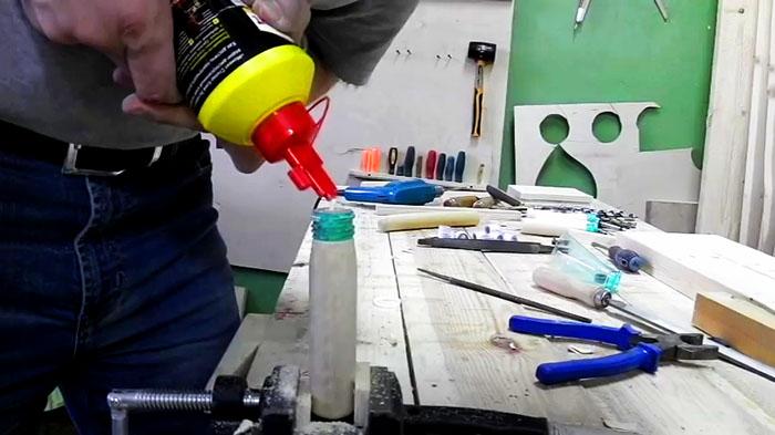 Как делать крепкие ручки для напильников при помощи пластиковой бутылки