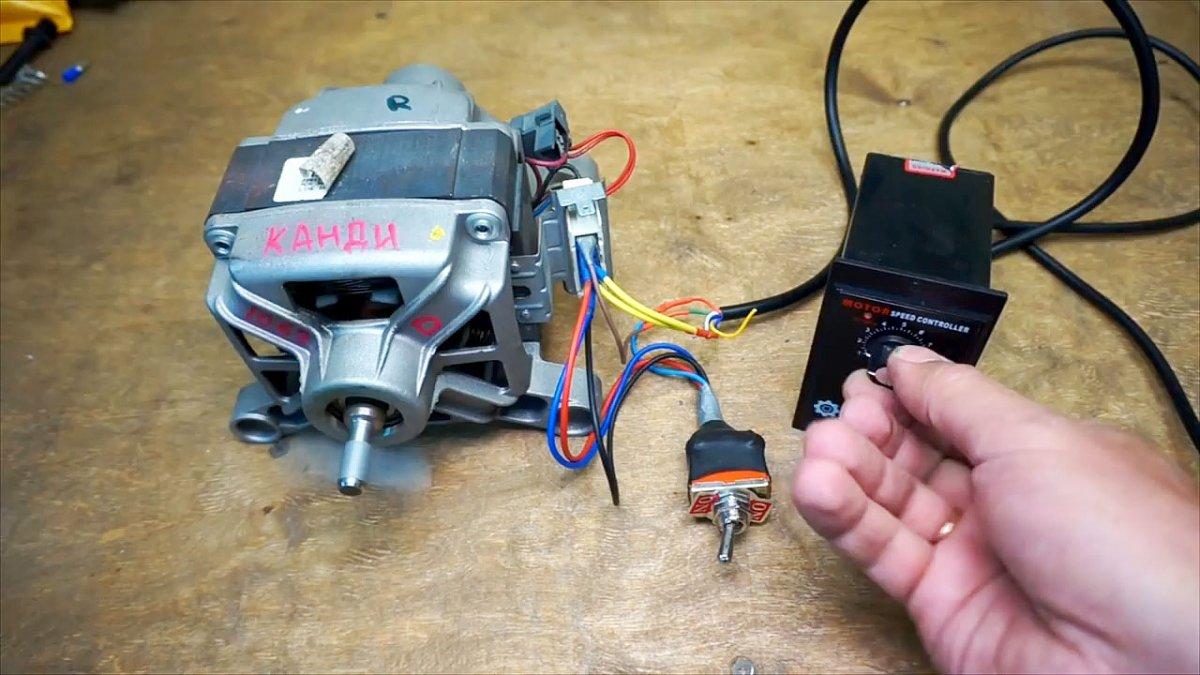Подключение двигателя стиральной машинки, реверса и регулятора оборотов