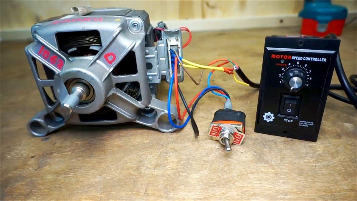 Схема включения электродвигателя стиральной машины