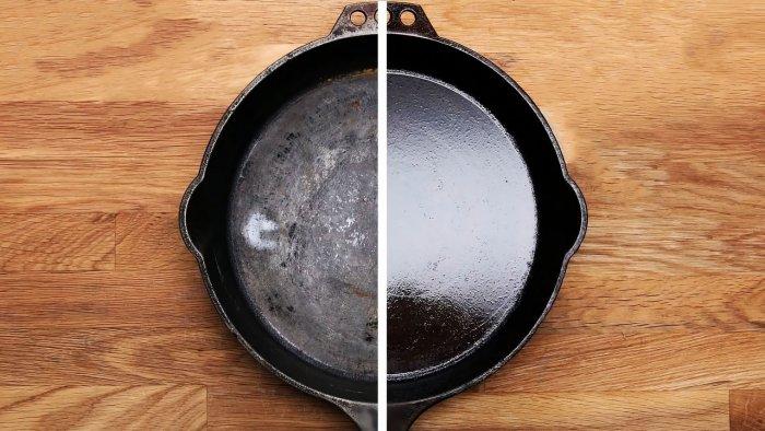 1564745345 9 - Очищаем чугунную сковородку от нагара