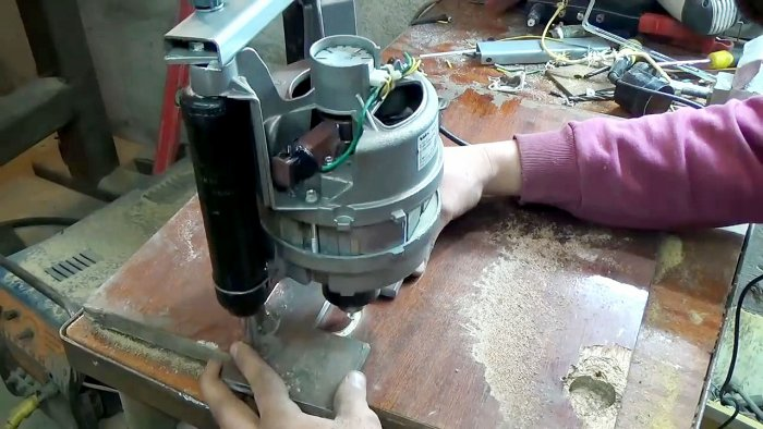 1565239506 16 - Фрезерный станок из двигателя стиральной машинки
