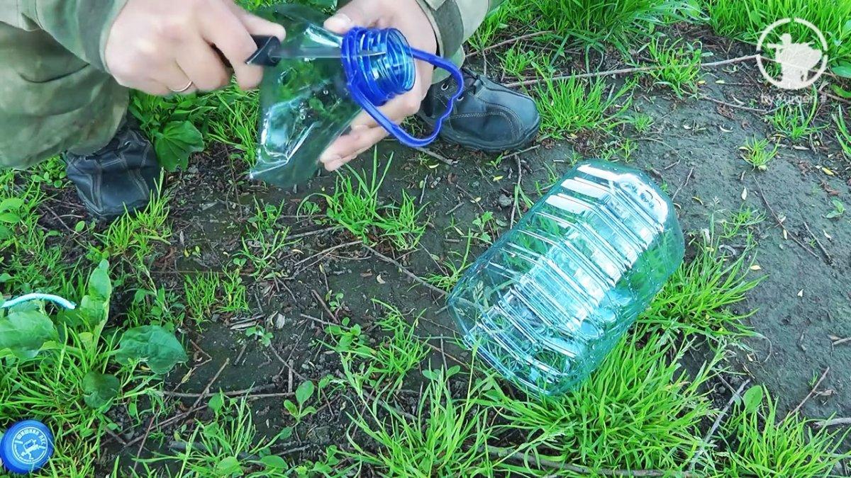 Как поймать рыбу с помощью пластиковой бутылкой